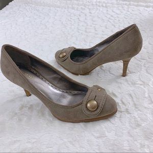 Coach Darlina Taupe High Heel Shoes Size 8